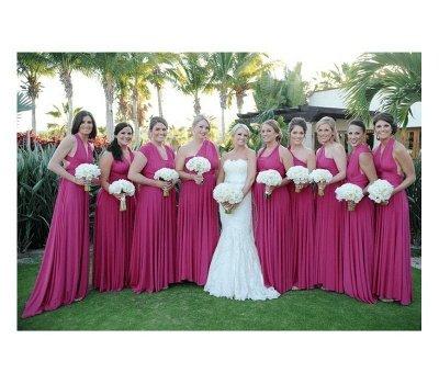 Magenta Multiway Infinity Bridesmaid Dresses | Convertible Wedding Party Dress_1