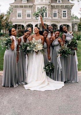 Grey Multiway Infinity Bridesmaid Dresses | Convertible Wedding Party Dress_1