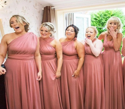 Dusty Rose Multiway Infinity Bridesmaid Dresses | Convertible Wedding Party Dress_3