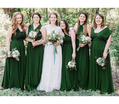 Emerald Green Multiway Infinity Bridesmaid Dresses   Convertible Wedding Party Dress_1