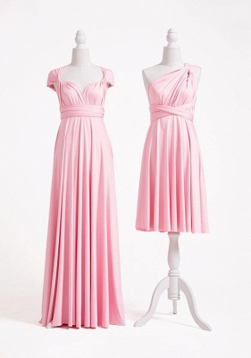 Blush Pink Multiway Infinity Bridesmaid Dresses | Convertible Wedding Party Dress_2