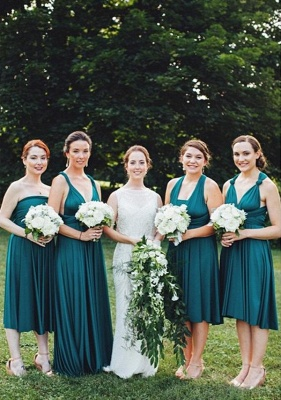 Teal Multiway Infinity Bridesmaid Dresses | Convertible Wedding Party Dress_1