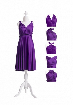Purple Multiway Infinity Bridesmaid Dresses | Convertible Wedding Party Dress_5