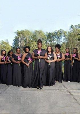 Black Multiway Infinity Bridesmaid Dresses | Convertible Wedding Party Dress