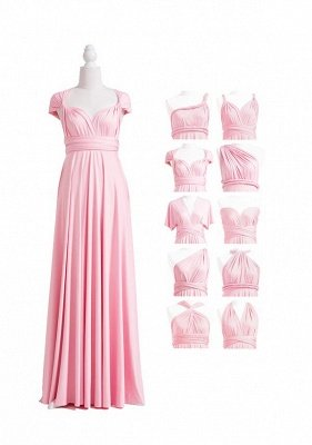 Blush Pink Multiway Infinity Bridesmaid Dresses | Convertible Wedding Party Dress_4