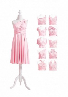 Blush Pink Multiway Infinity Bridesmaid Dresses | Convertible Wedding Party Dress_5
