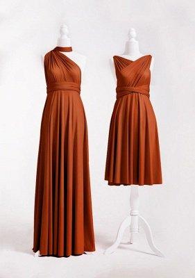 Burnt Orange Multiway Infinity Bridesmaid Dresses   Convertible Wedding Party Dress_2