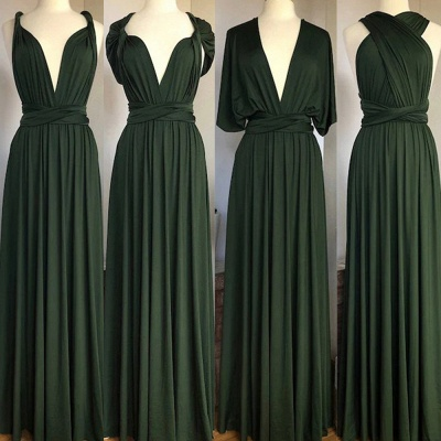 Dark Green Multiway Infinity Bridesmaid Dresses   Convertible Wedding Party Dress_2