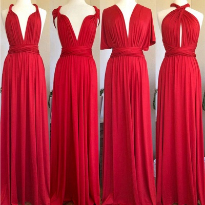 Red Multiway Infinity Bridesmaid Dresses   Convertible Wedding Party Dress_2
