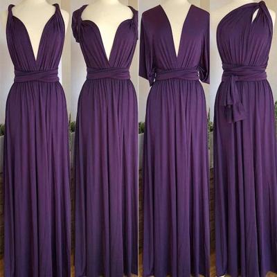 Dark Purple Multiway Infinity Bridesmaid Dresses   Convertible Wedding Party Dress_2