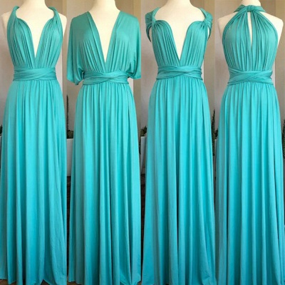Turquoise Multiway Infinity Bridesmaid Dresses   Convertible Wedding Party Dress_2