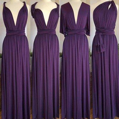Dark Purple Multiway Infinity Bridesmaid Dresses | Convertible Wedding Party Dress_2