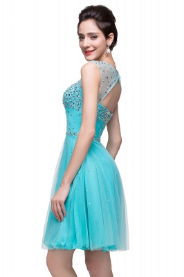 Cheap Open Back Sleeveless Chiffon Homecoming Dress Crystal Beads Tulle Short Prom Dress in Stock_10