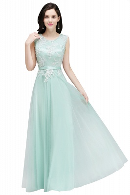 Pink A-line Prom Dress with Lace Appliques In Stock_3