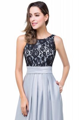 ELLIE | Elegant A-line Floor-length Crew Chiffon Lace Bridesmaid Dresses_11