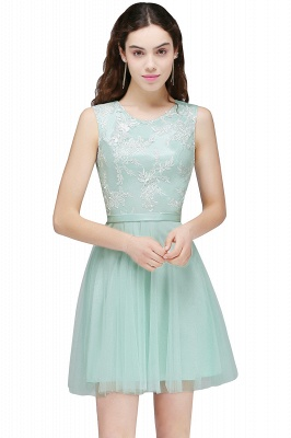 Cheap Pink Short Homecoming Dress with Lace Appliques in Stock_3