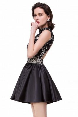 CECILIA | A-line Halter Lace Party Dress_7