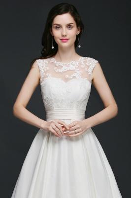 ELIZABETH | A-line Sleeveless Floor-length Chiffon Lace Wedding Dresses_8