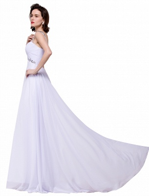 Cheap A-line Sweetheart Chiffon Evening Dress With Crystal in Stock_10