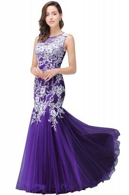 Long Lace Mermaid Sleeveless Maxi Prom Dress_3