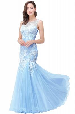 Long Lace Mermaid Sleeveless Maxi Prom Dress_5