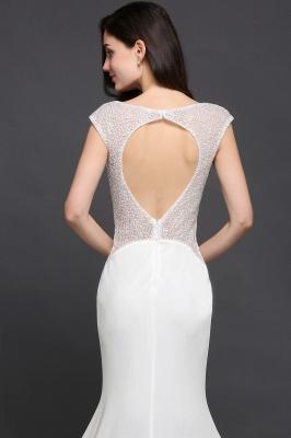 Mermaid Long Sleeve Cap Ivory Chic Sheer Jewel Evening Dresses_7
