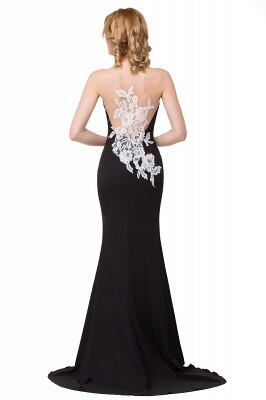Cheap Mermaid Evening With Appliques For Women Formal Long Prom Dress in Stock_5