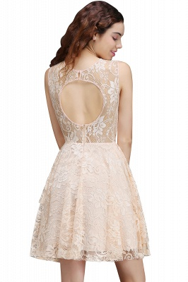 Cheap Modern Lace Pearl Pink Illusion Sleeveless Short Homecoming Dress in Stock_3
