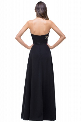 A-line Sweetheart Black Cheap Evening Dress with Embroidery_3