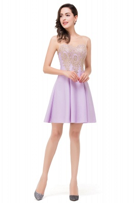 Cheap Short Applique Sleeveless Prom Homecoming Dress in Stock_9
