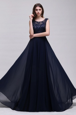 Sleeveless Lace Long Chiffon Prom Dress Online_7