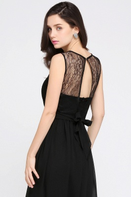 CHARLOTTE  Floor-length Black Chiffon Sexy Prom Dresses | Black Evening Dresses_12