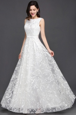 AVIANA | A-line Scoop Lace Elegant Evening Dress_5