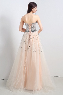 CECELIA   A-line Strapless Tulle Party Dress With  Sequined_2
