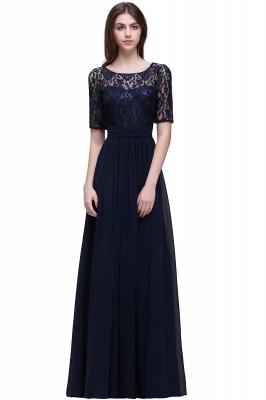 Cheap Half-Sleeve Lace Long Chiffon Evening Dress in Stock_6