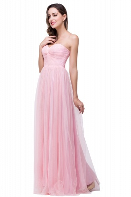ADRIANNA | A-line Strapless Sweetheart Tulle Ruched Bridesmaid Dress_4