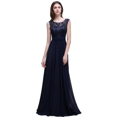 Cheap Sleeveless Lace Long Chiffon Prom Dress Online in Stock_3