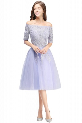 Cheap A-line Short Sleeves Tulle Lace Flower Girl Dress in Stock_4