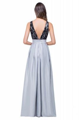 ELLIE | Elegant A-line Floor-length Crew Chiffon Lace Bridesmaid Dresses_3