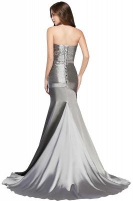 CELESTE | A-line Strapless Satin Party Dress_3