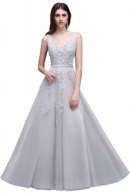 ADDYSON | A-line Floor-length Tulle Bridesmaid Dress with Appliques_12
