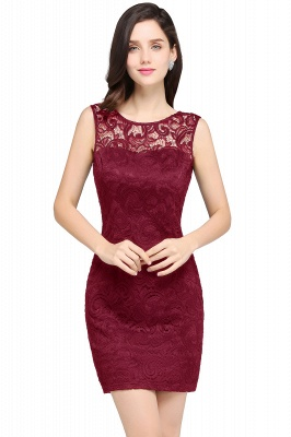 ARYA | Cheap Sheath Scoop Black Lace Homecoming Dresses | Sexy Short Prom Dresses_1