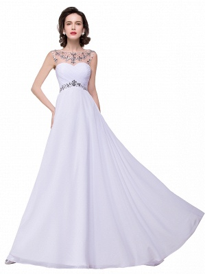 Cheap A-line Sweetheart Chiffon Evening Dress With Crystal in Stock_11