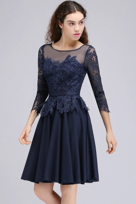 Cheap Dark Navy A-line Homecoming Dress in Stock_5