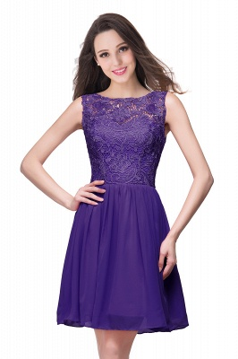 Cheap Short Chiffon Homecoming Dresses | Affordable Knee Length Chiffon Lace Party Dresses_3