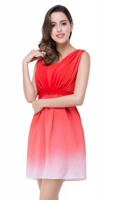ADRIANA   A-line Jewel Red Bridesmaid Dress_8