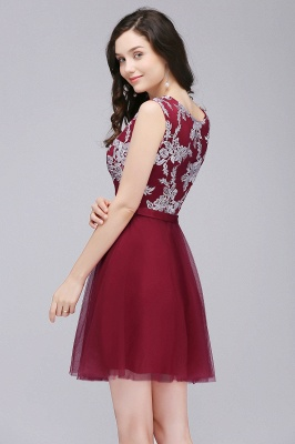 Cheap Pink Short Homecoming Dress with Lace Appliques in Stock_7