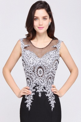 ARIYAH   Mermaid Scoop Black Pretty Evening Dresses with Appliques_5