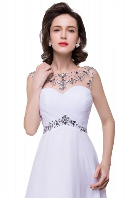 Cheap A-line Sweetheart Chiffon Evening Dress With Crystal in Stock_9