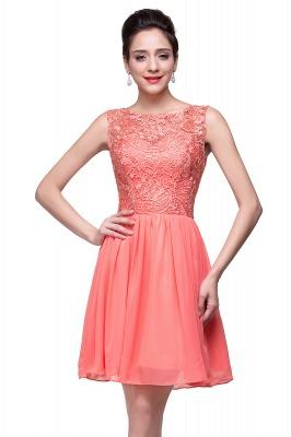 Cheap Short Chiffon Homecoming Dresses | Affordable Knee Length Chiffon Lace Party Dresses_12